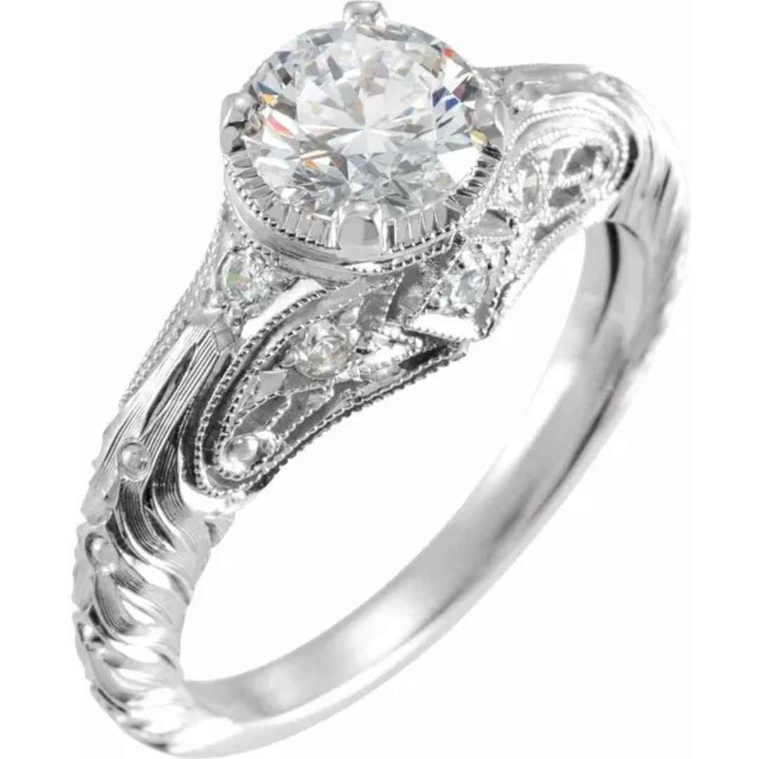 Women's vintage inspired engagement ring