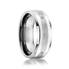 Wedding Band with Argentium Silver and Diamonds
