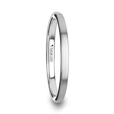 Women's Thin Wedding Band Tungsten