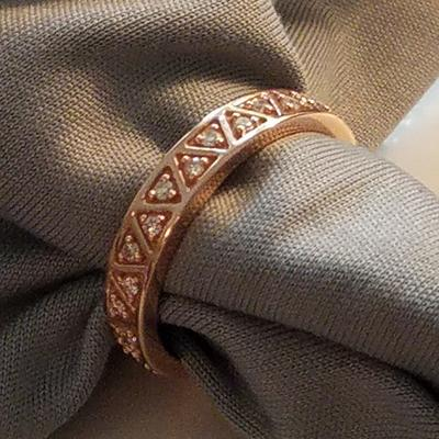 Women's 14k Rose Gold Wedding Band