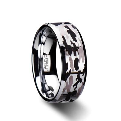 Tungsten Camo Wedding Band