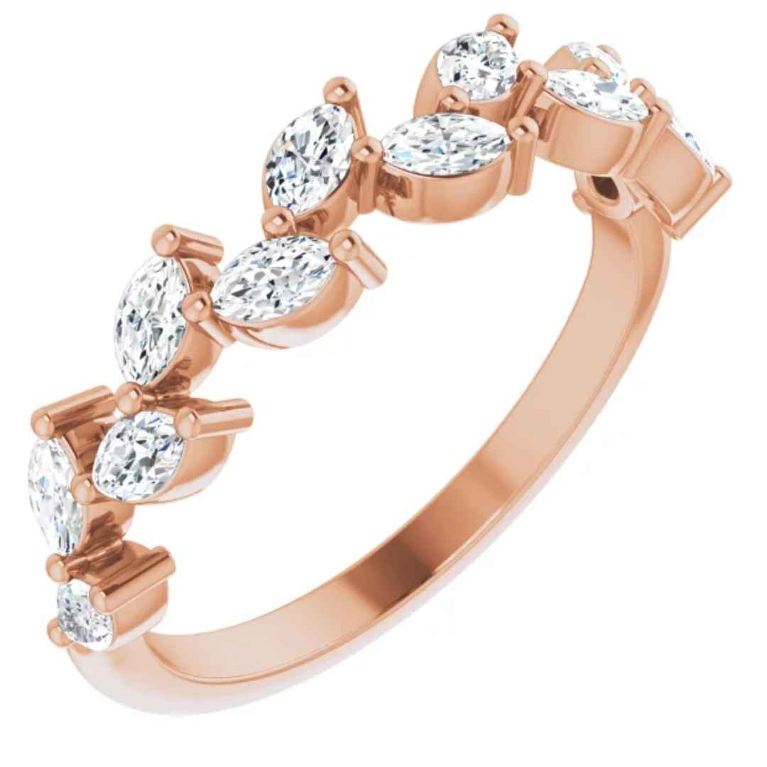 Women's Diamond Anniversary Ring Rose Gold