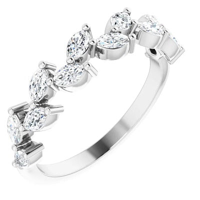 Womens Diamond Anniversary Ring White Gold
