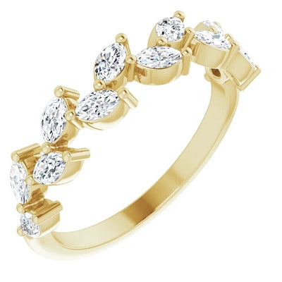 Womens Diamond Anniversary Ring Yellow Gold