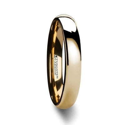Wedding Ring Gold-Plated Tungsten