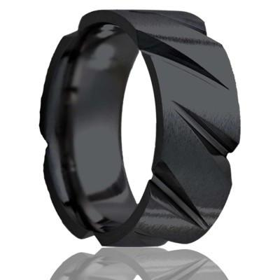 Black Zirconium Tire Tread Ring