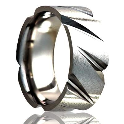 Men's Titanium Wedding Band Tire Tread