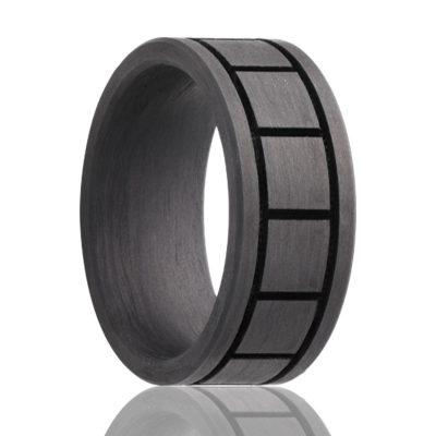 Carbon Fiber Wedding Band for Men