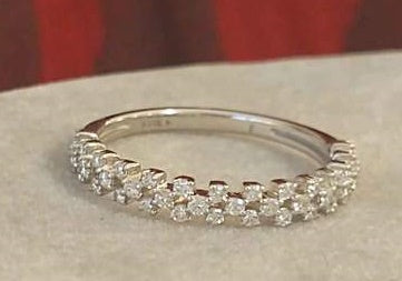 Anniversary Ring Wedding Band 14k Gold with Diamonds