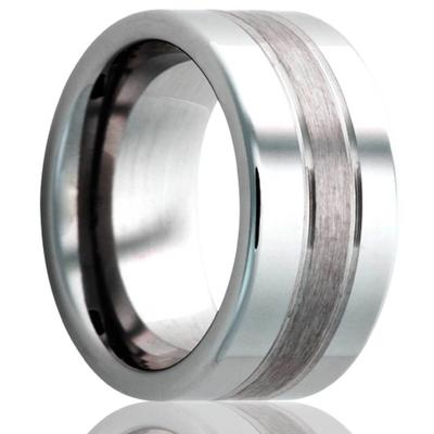 Tungsten Wedding Band with Satin Finish