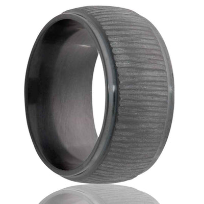 CAMBIUM | Unique Tree Bark Ring | Black Zirconium | 6mm, 7mm & 8mm