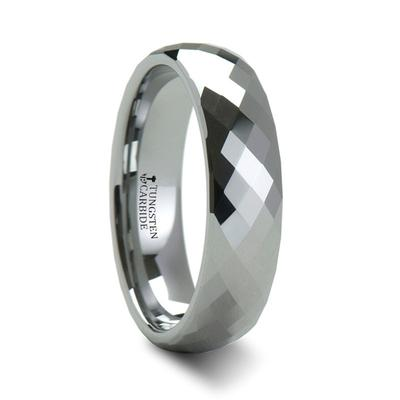 Tungsten Wedding Ring Faceted