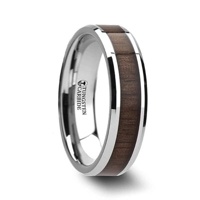 Wedding Ring for Men Wood Inlay