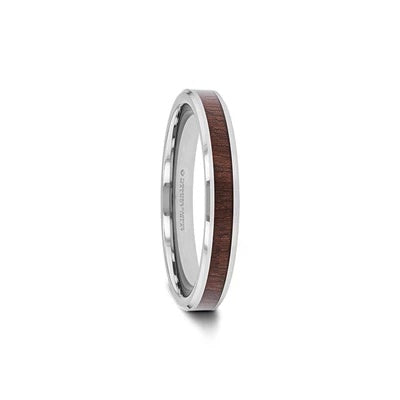 Men's Tungsten Wedding Band Black Walnut