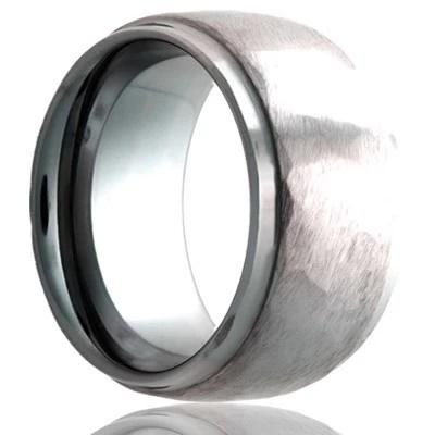 Tungsten Wedding Ring with Hammered finish