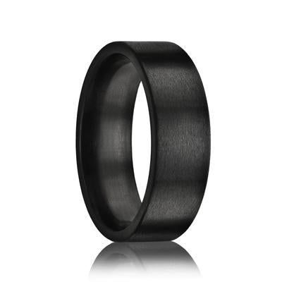 Black Zirconium Wedding Band