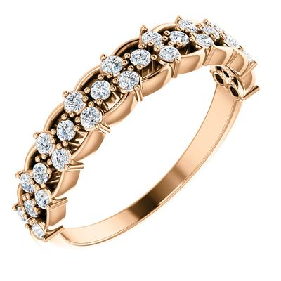 Women's Rose Gold Wedding Ring with Diamonds