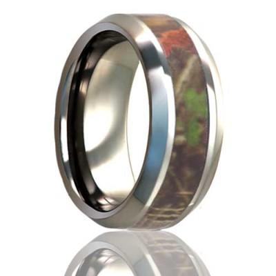 Titanium Ring with Camo Inlay