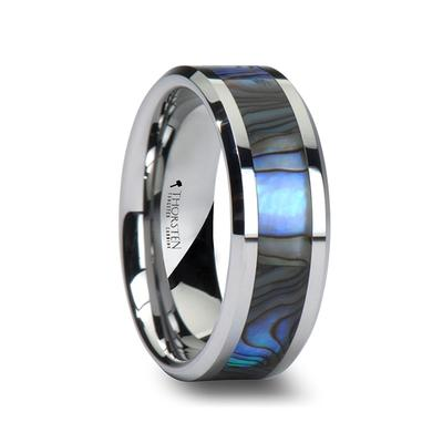 Men's Wedding Ring Mother of Pearl