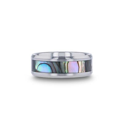 Tungsten Wedding Band Mother of Pearl