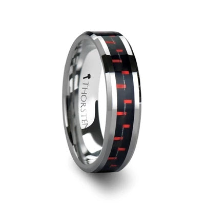 Tungsten Wedding Ring with Carbon Fiber Inlay