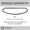Beveled Edge Comfort Fit Profile