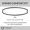 Domed Comfort Fit Ring Profile