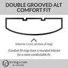 Double Grooved Comfort Fit Ring Profile