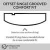 Offset Groove Comfort Fit Profile