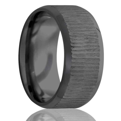 Men's black zirconium ring