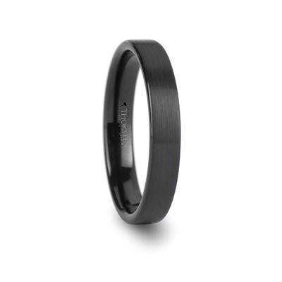 Men's Black Tungsten Wedding Ring
