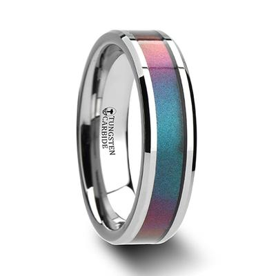 Tungsten Band with Color Inlay