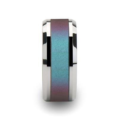 Tungsten Ring with Color Inlay