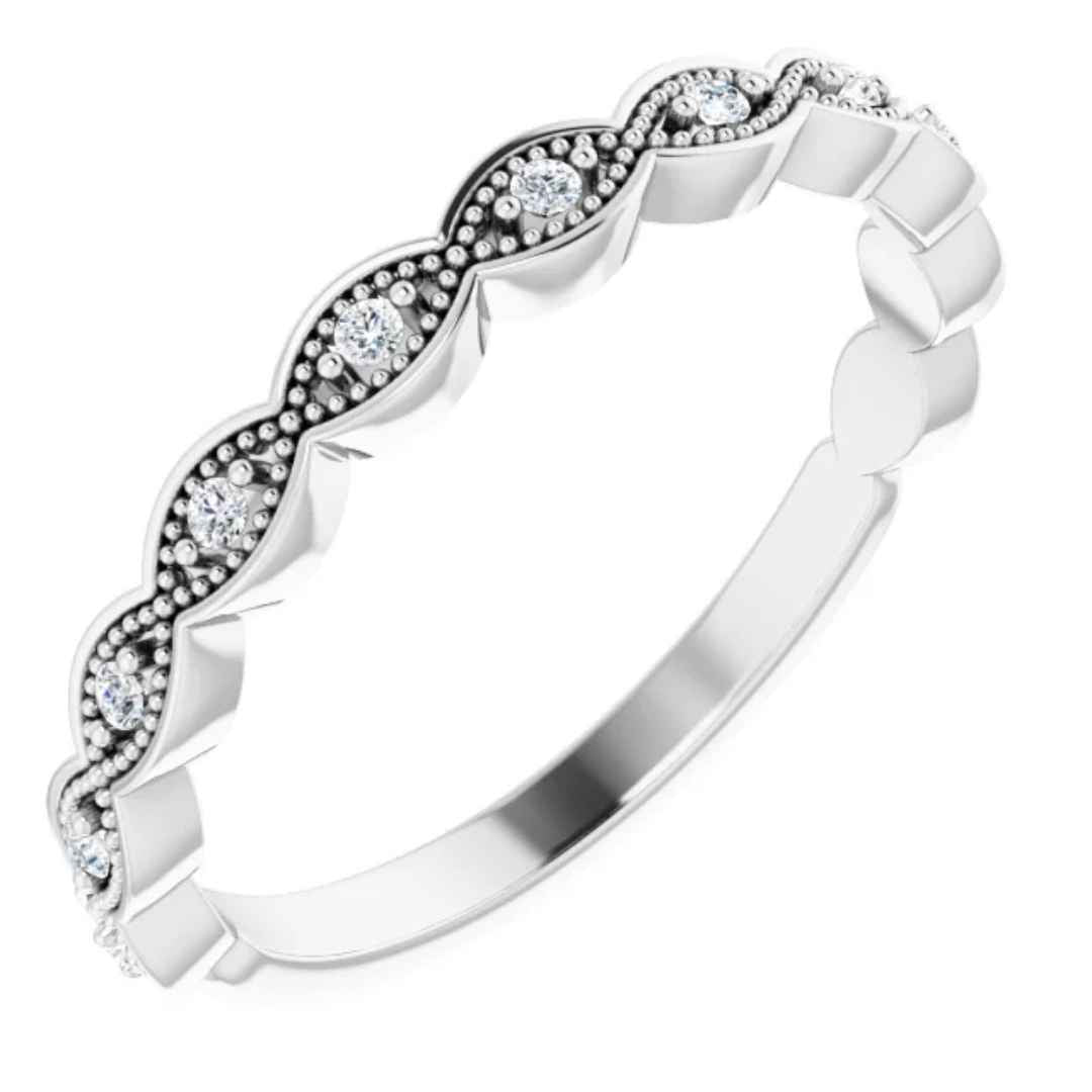 Diamond Wedding Ring White Gold