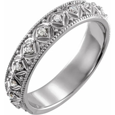 Women's Diamond Wedding Ring 14k White Gold