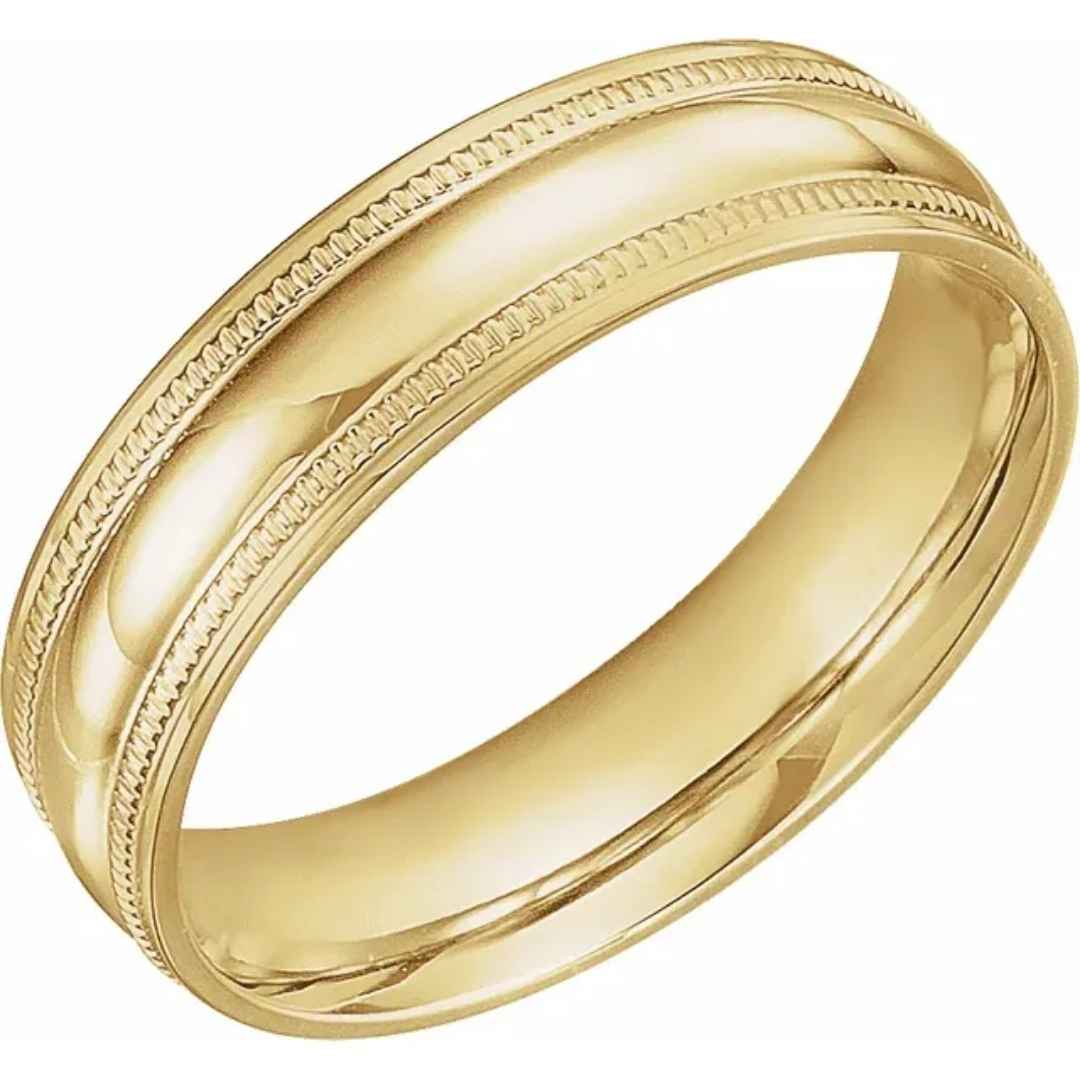 Men's 14K yellow gold wedding ring