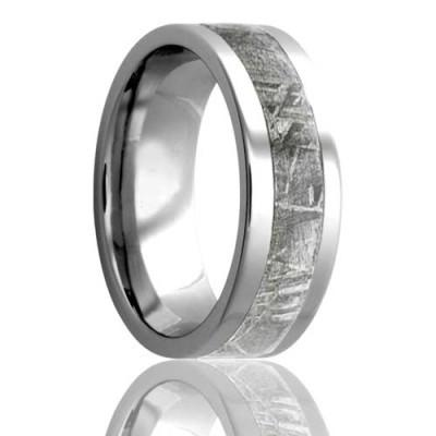 Meteorite Wedding Band Cobalt