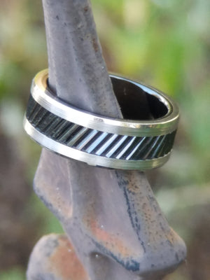 HAMMOND | Gear Tooth Pattern on Tungsten Ring | 6mm, 8mm & 10mm