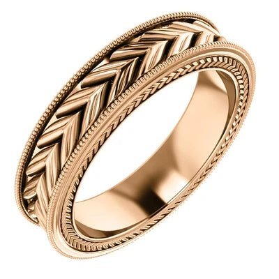 5mm Rose Gold Wedding Band