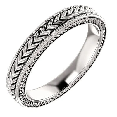 3mm White Gold Wedding Band