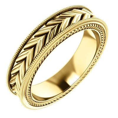 5mm Yellow Gold Wedding Band