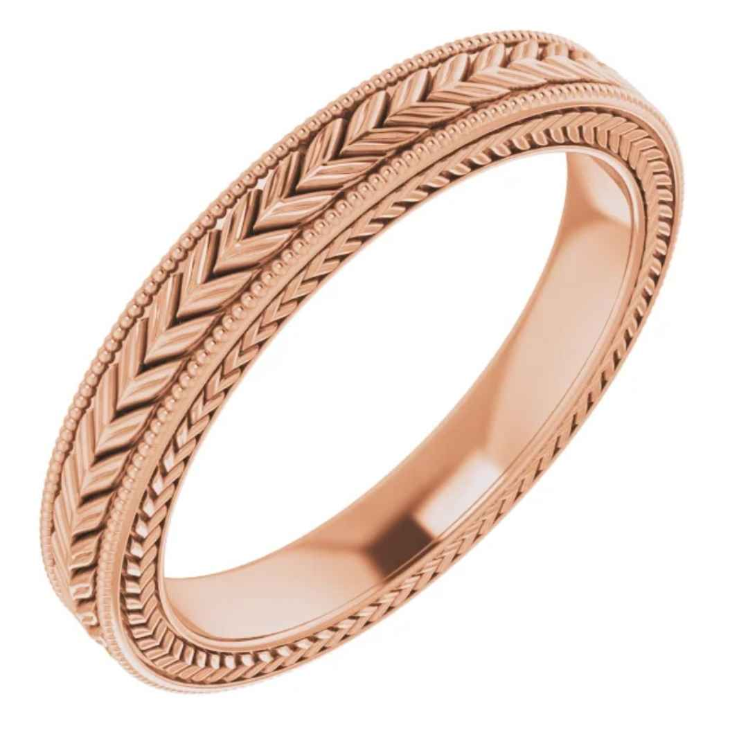 3mm Rose Gold Wedding Band