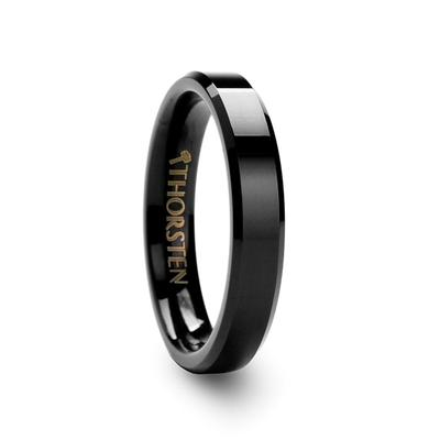 Black Tungsten Wedding Ring