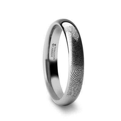Tungsten Fingerprint Band