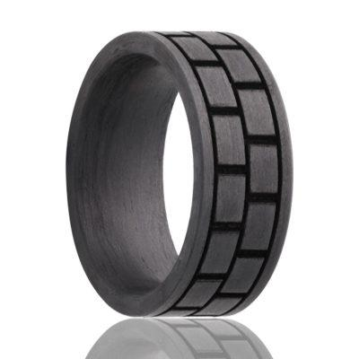 Black Wedding Ring Carbon Fiber