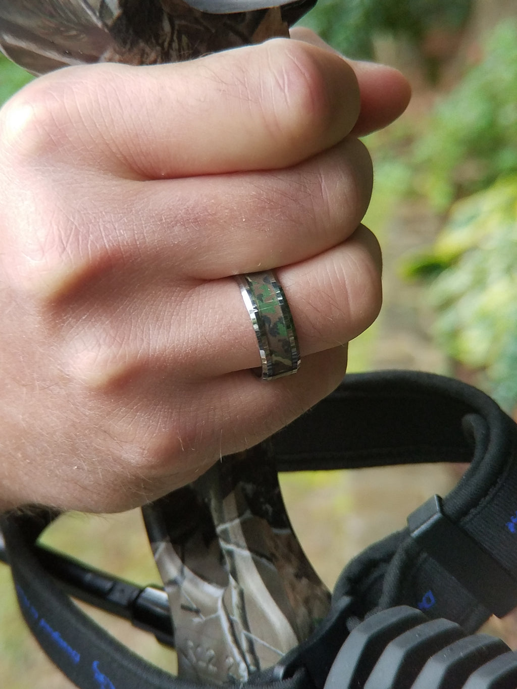 LEYTE | Jungle Camo Wedding Ring | Tungsten Carbide | 6mm, 8mm & 10mm - TCRings.com