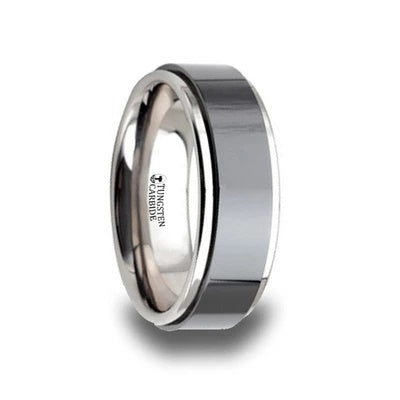 Tungsten Wedding Band with Ceramic Inlay
