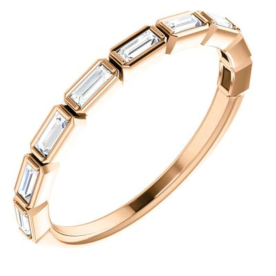 14k Rose Gold Eternity Band with Diamonds