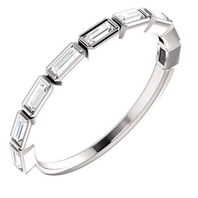 14k White Gold Eternity Band with Diamonds