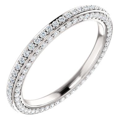 Diamond Wedding Ring | 14k White Gold Eternity Band